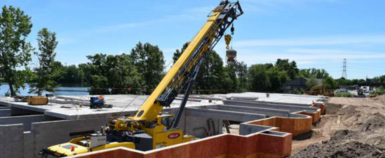 Cardigan Ridge Project XL construction site